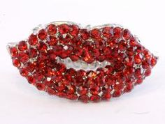 cute red lips ring....