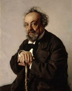 'Portret van Alexei Feofilaktovich Pisemsky', 1880 / Ilja Repin (1844-1930) / Tretjakovgalerij, Moskou, Rusland.