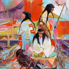 Spirits of the Shaman by MARILU NORDEN Native American Photos, Native American Artists, Native American History, Modern Indian Art, Quoth The Raven, Native Indian, Native Art, The Masterpiece, Artist Names