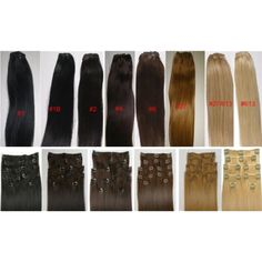 """Alexxis 18"""" Clip in Human Hair Extensions, 10pcs, 100g, Color  #PersonalCare"""