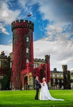 Swinton Park Bride and groom infront of the Park Wedding Images, Wedding Ideas, Park Weddings, Elegant Wedding, Wedding Venues, Groom, Wedding Photography, Bride, Travel
