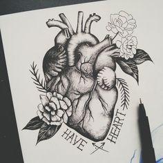 57 Ideas Drawing Ideas Heart DesignYou can find Heart drawing and more on our Ideas Drawing Ideas Heart Design Pencil Art Drawings, Art Drawings Sketches, Tattoo Drawings, Heart Drawings, Neck Tattoos, Body Art Tattoos, Sleeve Tattoos, Female Tattoos, Tatoos