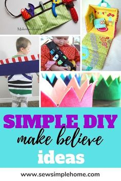 Get some easy dress up box ideas with these fun pretend play tutorials and diy toddler and kids dress up projects. Diy Crafts For Kids Easy, Cool Diy Projects, Kids Diy, Kid Crafts, Toddler Dress Up, Kids Dress Up, Easy Dress, Indoor Activities For Kids, Business For Kids