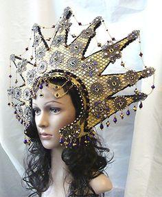 Eyeris Fantasy Headpiece Halloween Cosplay Mardi Gras Drag by RTFX