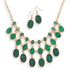 Emerald Bead Jewelry Set. Get the lowest price on Emerald Bead Jewelry Set and other fabulous designer clothing and accessories! Shop Tradesy now