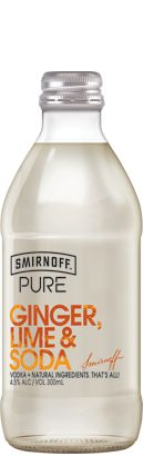 Smirnoff Pure Ginger Lime & Soda