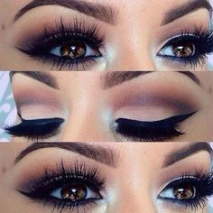 Simple eye makeup tutorials to compliment brown eyes.