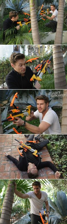 Hung with Liam Hemsworth today...we need someone to put captions on these pics asap. - Ryan