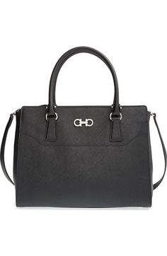 Salvatore Ferragamo 'Large Beky' Saffiano Leather Tote available at #Nordstrom