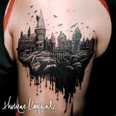Nice horror tattoo by Thomas L'Amiral.