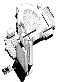 hannes meyer palace of the nations sketch axonometric - Pesquisa Google