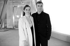 Marion Cotillard and Raf Simons for the inauguration © Saskia Lawaks