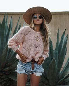 "JULIE SARIÑANA on Instagram: ""Blush baby blush. • sweater @sezane"""
