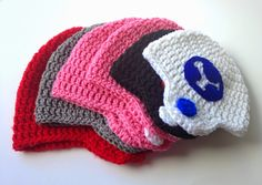 five little monsters: Crocheted Football Helmet Hats- Free Pattern