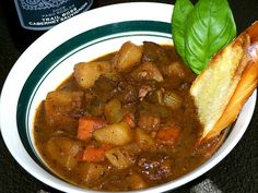 Food for Hunters: Deer Stew. Best stew, just one tweek, in the creole seasoning do Tbsp salt instead of a whole one Deer Recipes, Stew Meat Recipes, Wild Game Recipes, Venison Recipes, Crockpot Recipes, Cooking Recipes, Cooking Games, Cooking Tips, Cooking Venison