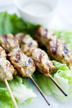 Chicken Kebabs, Middle Eastern-Style