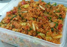 Kisir (Turkse bulgursalade) - Apocalypse Now And Then Veggie Recipes, Lunch Recipes, Salad Recipes, Couscous, Low Carb Brasil, Healthy Snacks, Healthy Recipes, Side Dishes For Bbq, Quinoa