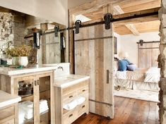 Add a rustic touch to your home with a sliding barn door. #etsy