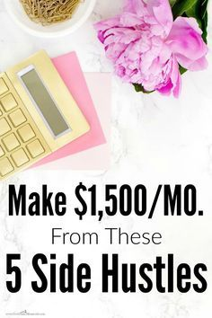 She makes more than $1,500 a month just from side hustles! I can't wait to give these a try for myself. I'm a mom, so I need flexibility. I love reading this from another mom who knows how to make it all work! I really want to start using these NOW!