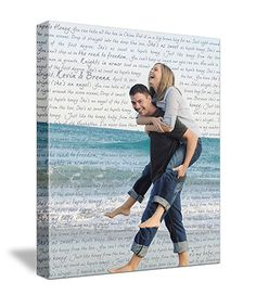 Personalized Text Poems Words on Photograph Keepsake Favorite Photo and Words, Vows,24x30. $220.00, via Etsy.