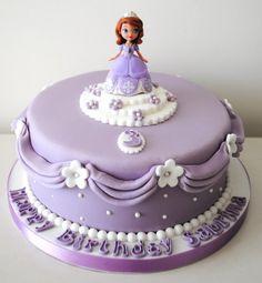 Bolo Sofia, Sofia Cake, Sofia The First Birthday Cake, Barbie Birthday Cake, Princess Sophia Cake, Cake Decorating With Fondant, Just Cakes, Celebration Cakes, Themed Cakes