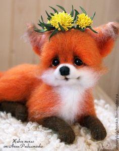 Купить Лисичка Аглашенька - рыжий, белый, лиса, лиса игрушка, лиса из шерсти, лисичка игрушка