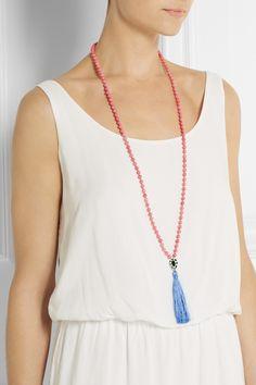 IAM BY ILEANA MAKRI Kompoloi beaded tassel necklace €129.00 http://www.net-a-porter.com/products/472193