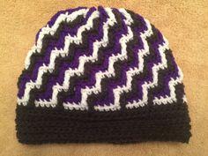 Handmade Crochet Zig Zag Hat by EverydayCrochet247 on Etsy