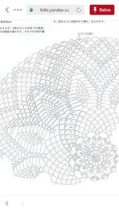 Crochet Doily Diagram, Crochet Pillow Pattern, Crochet Mandala, Crochet Doilies, Crochet Lace, Crochet Patterns, Pineapple Crochet, Crochet Circles, Thread Crochet