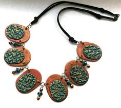 Polymer clay Kette