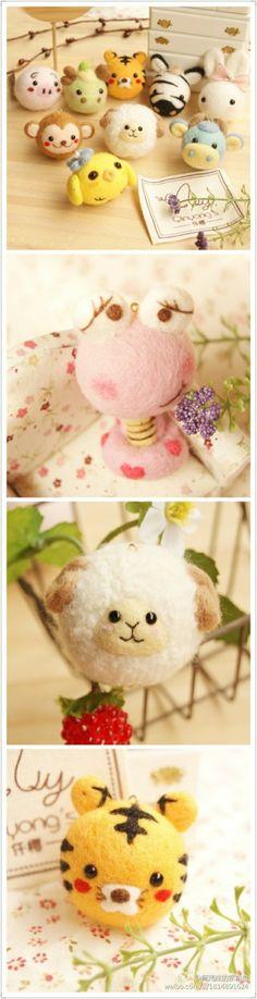 #堆羊毛毡#haha~this is my blog!