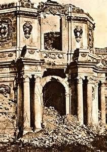 Ruins of the Imperial Summer Palace, October 1860.  Second Opium War, 1856-60.