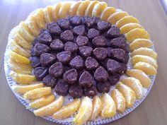 Nyers brownie szívecskébe zárva