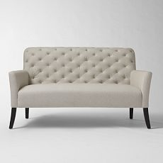 Perfect for small spaces.  Elton Setee - West Elm
