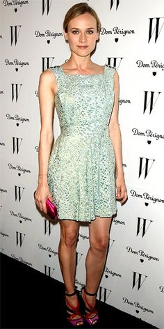 Diane Kruger in Azzaro dress and Jimmy Choo shoes.  (January 2011)