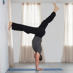 Can& kick up? Learn a more accessible route into handstand. Yoga Handstand, Yoga International, Step Up, Asana, Body Weight, Harem Pants, Kicks, Workout, Teaching