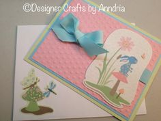 New baby card using Cricut imagine cartridge Nursery Tails by Designer Crafts by Anndria.