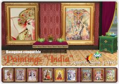 """Sims 4 CC's - The Best: Paintings """"India"""" by Annett85"""