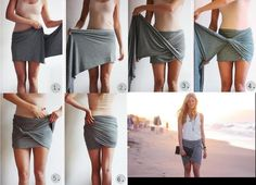 easy way to make a skirt