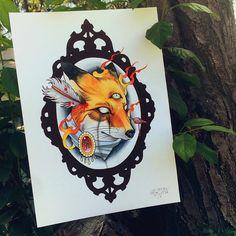 #fox #paint #inked #tattoo #draw #au #australia #melbourne #neotrad #neotradtattoo #neotraditional