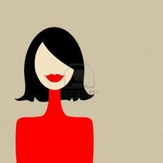 Fashion woman portrait for your design Stock Photo
