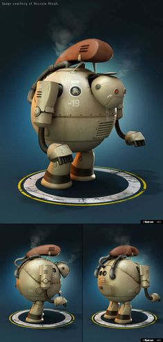 Made using Autodesk Mudbox. This software can create organic to mechanical looking images.