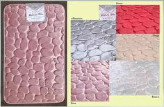 """Tappeto da bagno con fondo antiscivolo. Fantasia """"stone"""". Piacevole al calpestio. Lavabile in lavatrice a 30C°. Dimensioni: 50x80 cm Materiali: 100% Poliestere Colori disponibili: Rosso, Beige, Grigio alluminio, Bianco, Rosa http://www.ebay.it/itm/TAPPETI-ARREDAMENTO-AZALEA-SOGGIORNO-O-CAMERA-ANTISCIVOLO-/272322043444?var=&hash=item3f67a89e34:m:mCAOIghGivVLLKRlUW_sQLw Prezzo: 7,00€"""