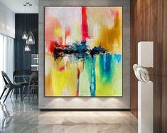 Handmade painting by professionals 🎨🎨 Large Abstract Wall Art, Large Canvas Art, Large Artwork, Original Paintings, Original Art, Oversized Wall Art, Extra Large Wall Art, Texture Painting, Painting Canvas