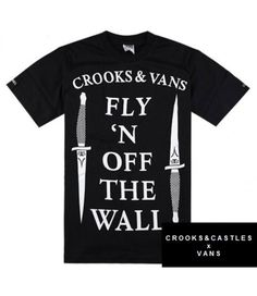 Fly high with Crooks and Castles! Crooks and Castles Off The Wall Vans T-shirt  http://streetwearmuse.com/t-shirts/crooks-castles-off-the-wall-vans-t-shirt-streetwear-villa-white #CrooksandCastles #tshirt #streetwear #urbanwear #streetfashion