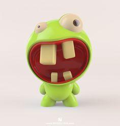 Urban Toy Concept by on DeviantArt 3d Character, Character Concept, Character Design, Mascot Design, Cute Monsters, 3d Prints, Vinyl Toys, Designer Toys, Cinema 4d