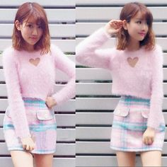 Sweet hollow out wool sweater
