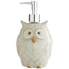 Owl Soap Dispenser Pinned by www.myowlbarn.com