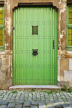 Green door, Gent, Belgium