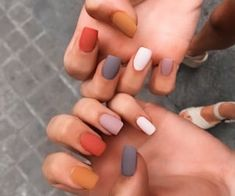Simple Fall Nails, Cute Nails For Fall, Simple Acrylic Nails, Fall Acrylic Nails, Acrylic Nail Designs, Cute Gel Nails, Pretty Nails, Summer Gel Nails, Pink Nails
